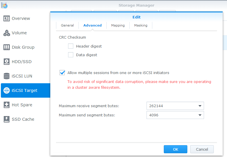 How to set up VMware ESXi, a Synology iSCSI NAS, and Active/Active